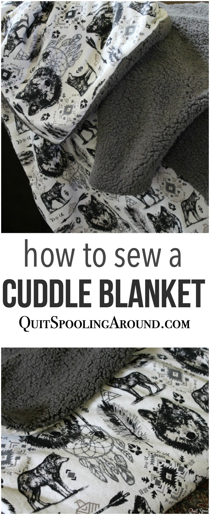 Easy Sew Cuddle Blanket