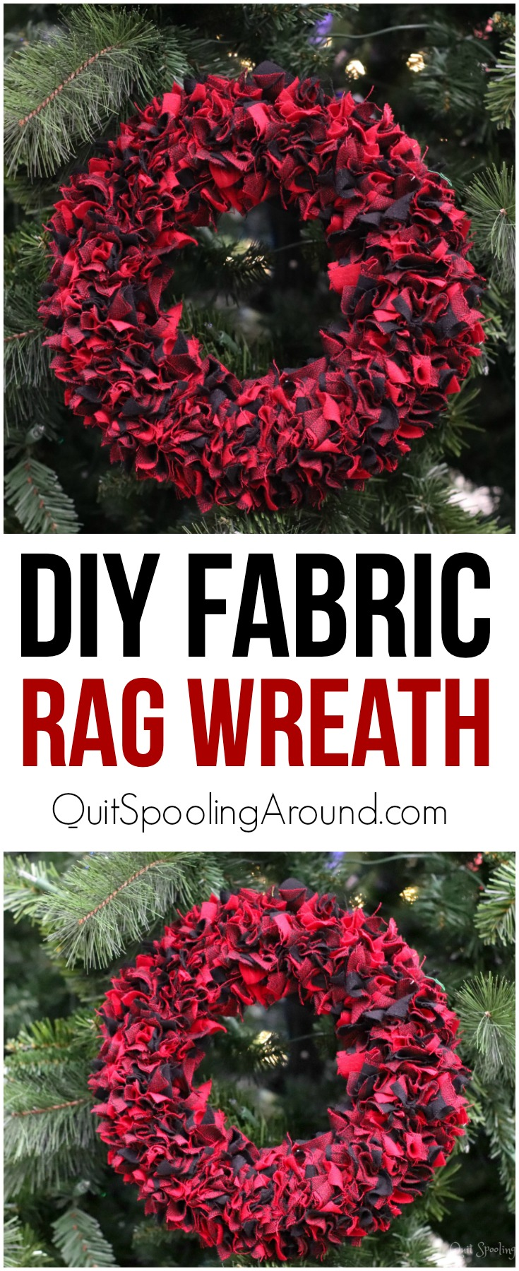 DIY Fabric Rag Wreath