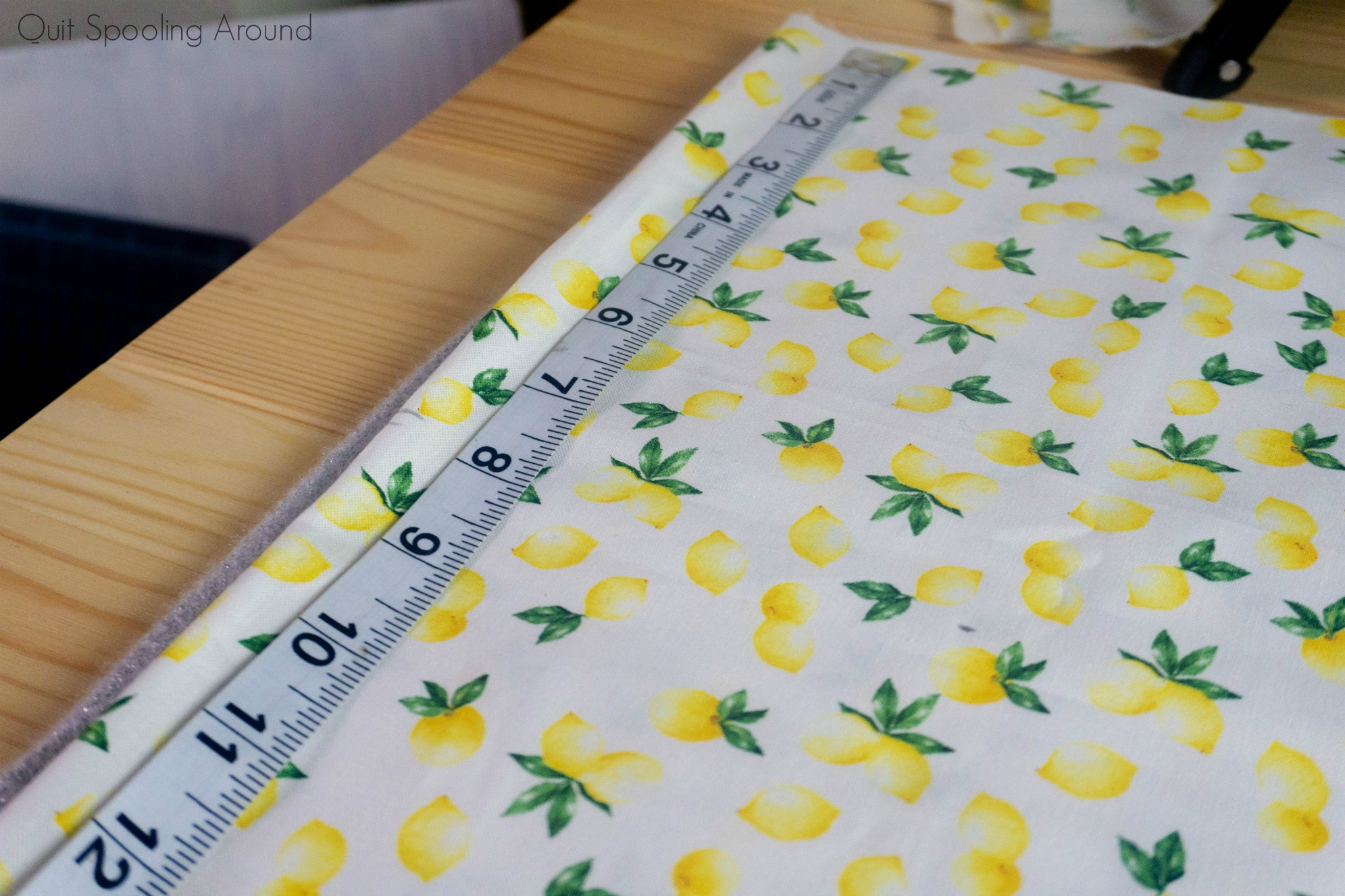 Kitchen Pot Holder - Measuring Fabric