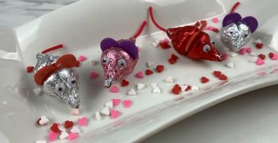 How to Make Valentine's Hershey Kisses Mice