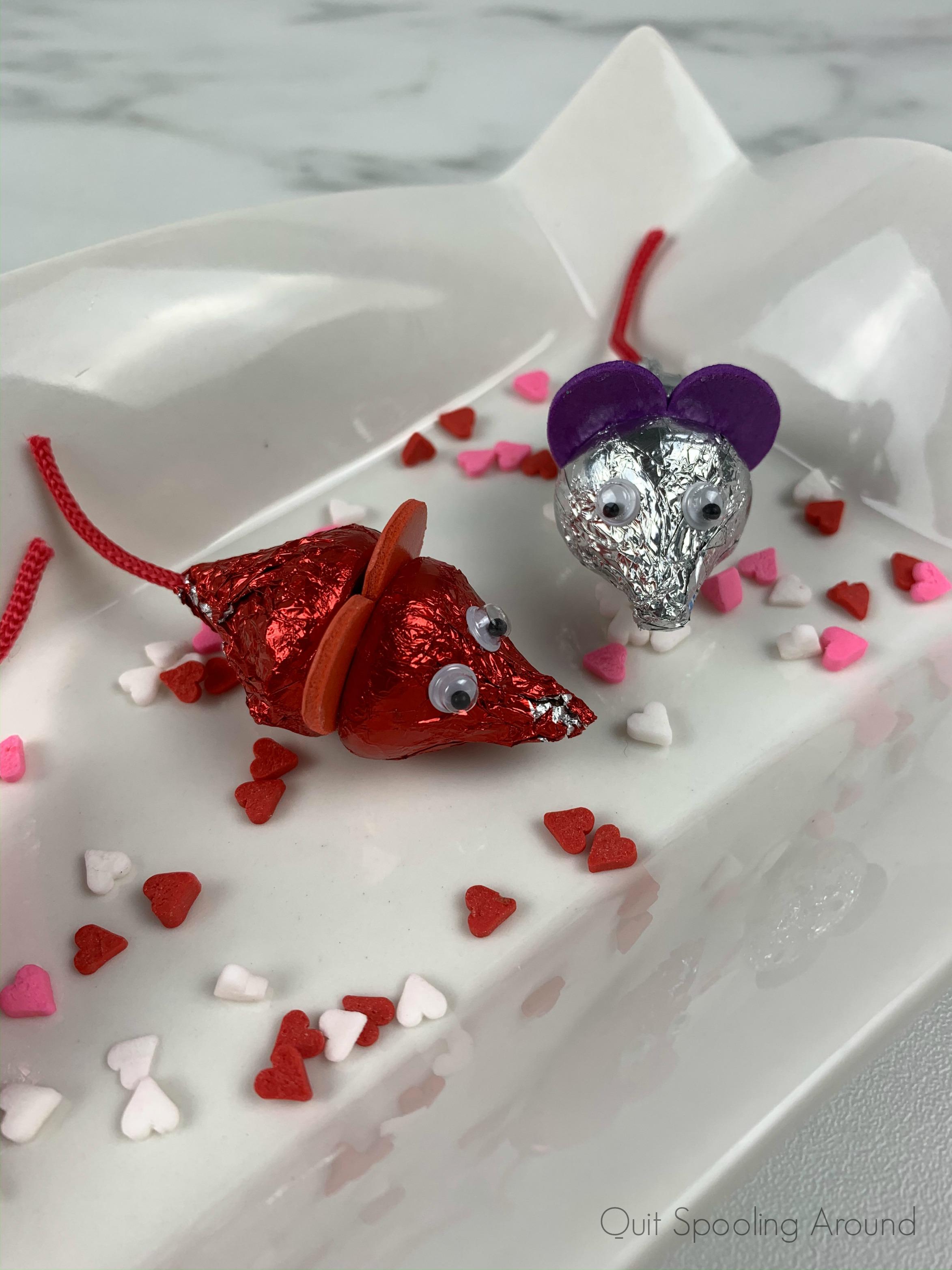 Valentine Hershey's Kisses Mice