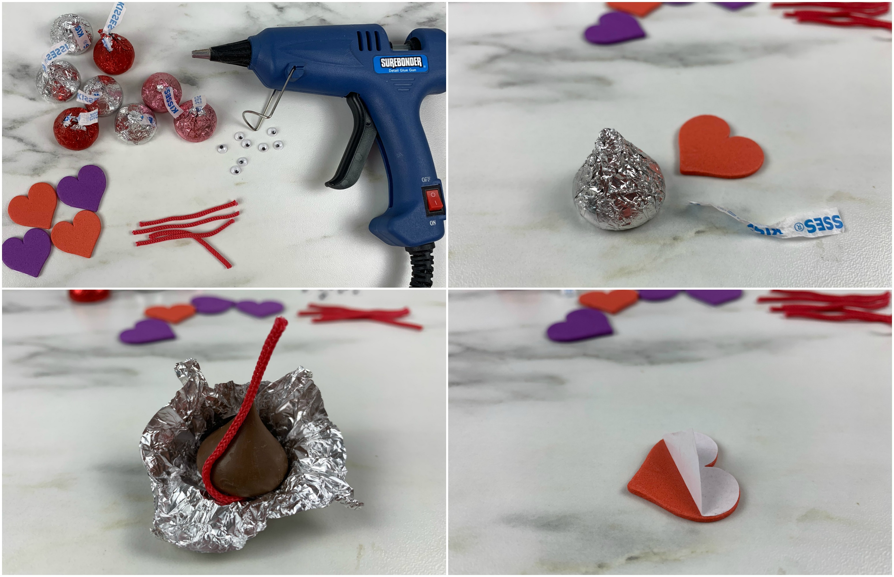 Hershey's Kiss Valentine's Mice