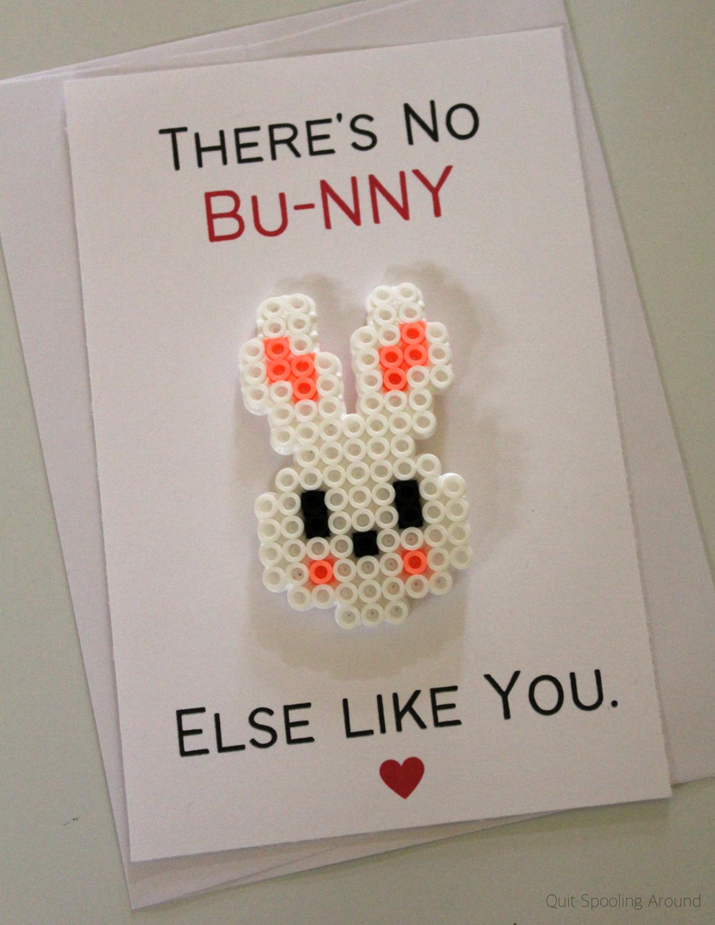 """<span itemprop=""""name"""">Bunny Perler Bead Pun Card</span>"""