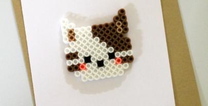 Cat Perler Bead Project + Card