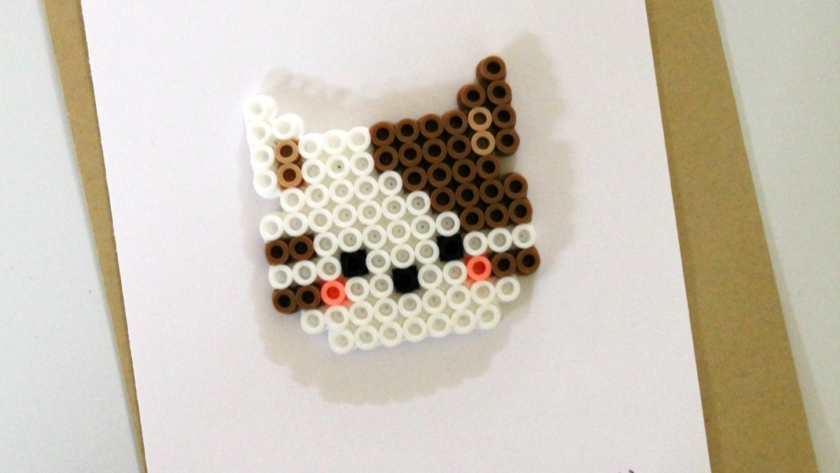Cat Perler Bead Project + Card