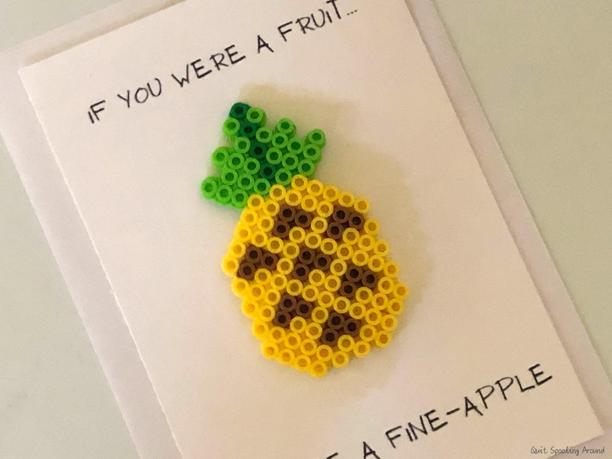 Pineapple Perler Bead Card