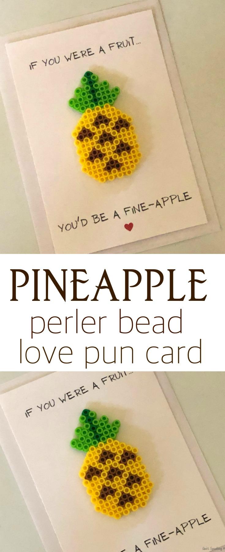 Pineapple Perler Bead