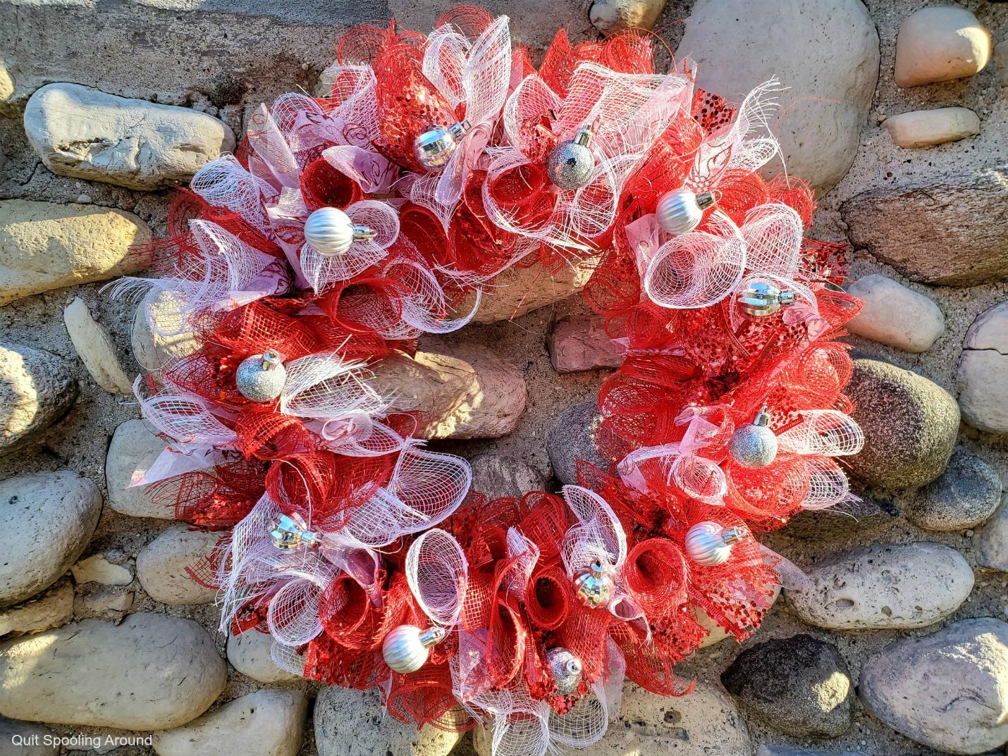 Mesh Valentine Wreath DIY
