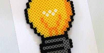 Lightbulb Perler Bead Project