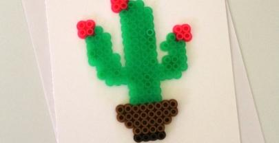Succulent Perler Bead Pun Card