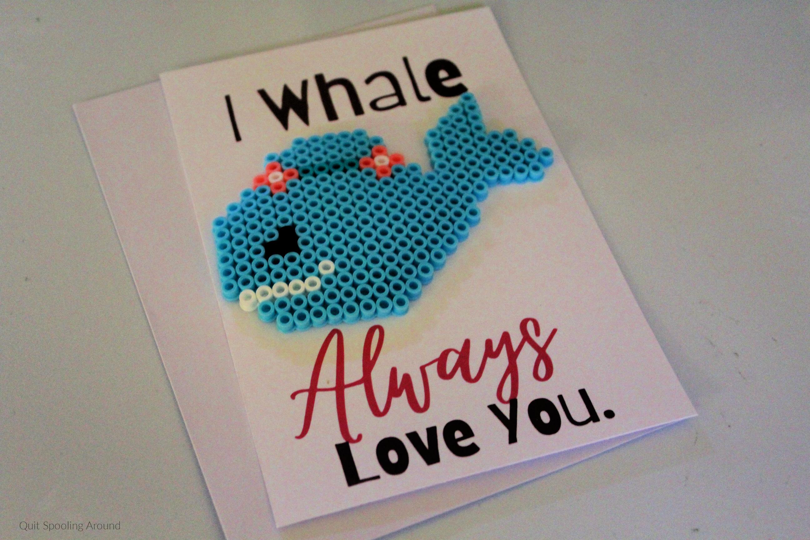 Whale Perler Bead