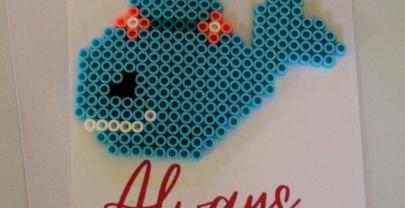 Whale Perler Bead Card