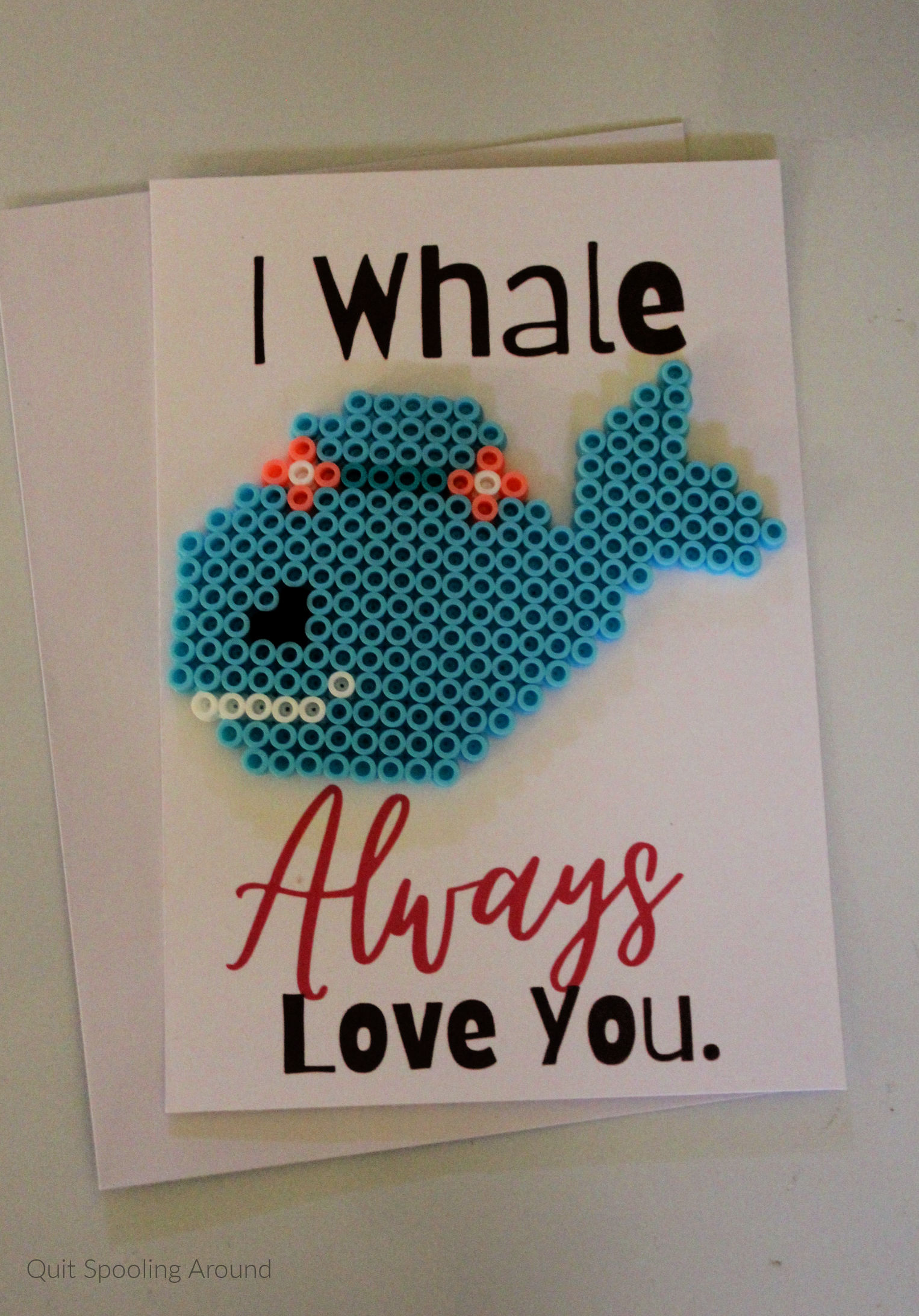 "<span itemprop=""name"">I Whale Always Love You Perler Bead Card</span>"