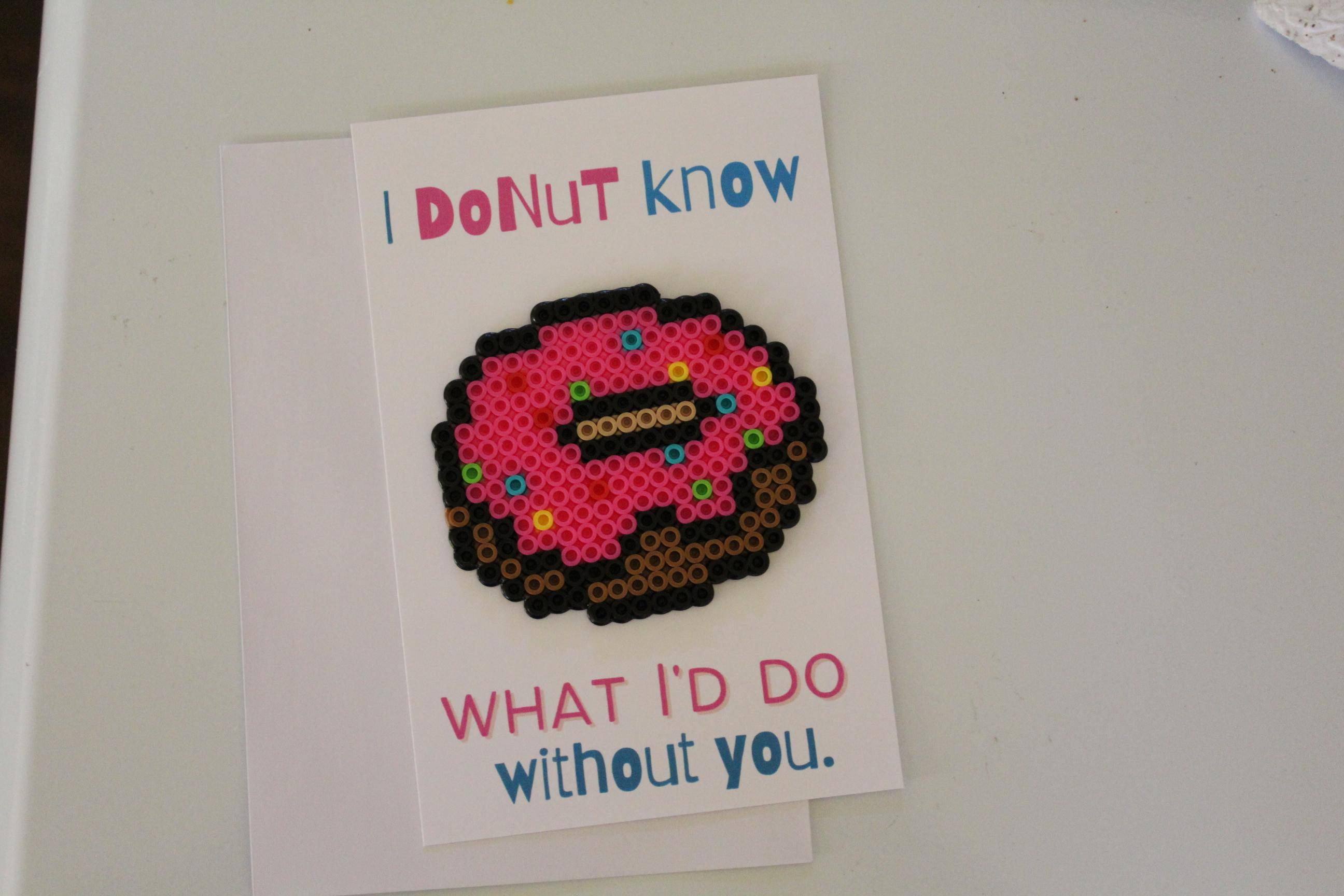 Donut Perler Bead Love Pun