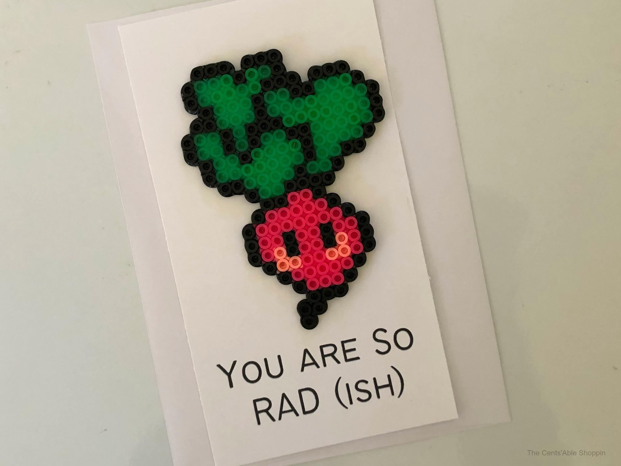 "<span itemprop=""name"">Radish Perler Bead Pun Card</span>"